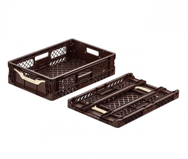 Bäckerkiste | 600x400x154mm | braun | klappbar