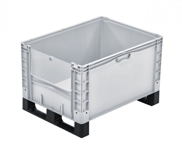 Eurobox | 800x600x520 mm | Entnahmeklappe | Kufen